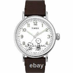 Timex Standard x Peanuts Unisex Snoopy & Charlie Brown 40mm Leather Strap Wat