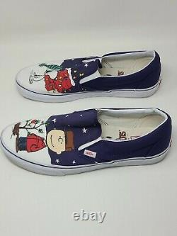 VANS Peanuts By Schulz Snoopy Charlie Brown Christmas Slip On Mens 13