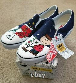 VANS RARE CHRISTMAS CHARLIE BROWN & SNOOPY. NEW BOXED COND Men US 7.5 Ws 9 Boxed