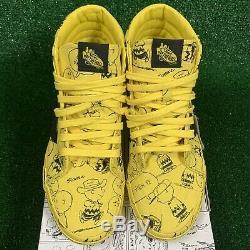 VANS Sk8-Hi Reissue Skate Shoes Yellow Maize Peanuts Charlie Brown Mens Sz 7.5