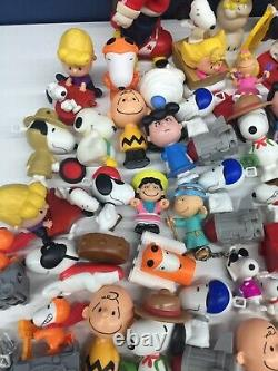 VTG Modern Mixed LOT 11 lbs Peanuts Snoopy Charlie Brown Toy Figures Happy Meal