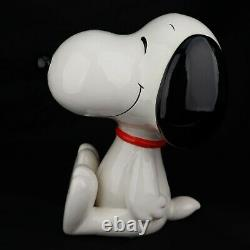 VTG SNOOPY Schmid 11 Happy Snoopy CERAMIC PORCELAIN Music BOX LARGE JAPAN