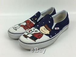 Vans Peanuts Snoopy Charlie Brown Christmas Tree Classic Slip-On Shoes withBox 9.5