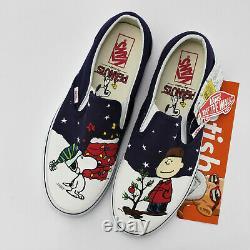 Vans x Peanuts Classic Slip On Charlie Brown Christmas Tree Men's Shoes