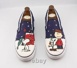 Vans x Peanuts UK 10 Charlie Brown Snoopy Christmas Skateboard Rare