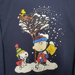 Vintage 1970s Snoopy Charlie Brown Woodstock Peanuts Sweater Sweatshirt USA Made