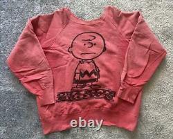 Vintage 60's Mayo Spruce Charlie Brown Snoopy Peanuts Sweatshirt Size S Unisex