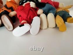 Vintage Applause 1950s-72 Complete Set 6 Peanuts Gang Snoopy Charlie Brown ALL