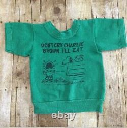 Vintage Charlie Brown Peanuts Snoopy Sweatshirt Norwich Size Toddler 2 Green