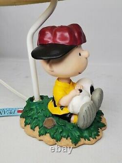 Vintage Peanuts Westland #8265 Charlie Brown & Snoopy Lamp, Excellent Condition