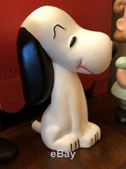 Vintage Snoopy Charlie Brown Lucy Peanuts Gang Ceramic Painted Figurines