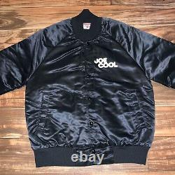 Vintage Snoopy Satin Jacket Joe Cool Charlie Brown Peanuts RARE Stadium Club S/M