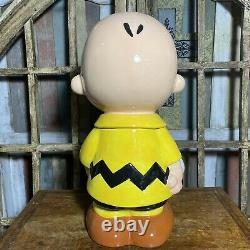 Westland Giftware Charlie Brown and Snoopy Ceramic Cookie Jar 13.5 Inches Tall