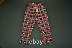 Women's Lazy Oaf x Peanuts Pants Size 8 Snoopy Charlie Brown Woodstock Plaid