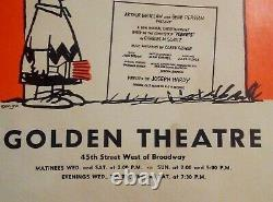 You're a Good Man Charlie Brown 1971 Broadway Golden Theatre Poster Snoopy 35X55
