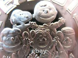 1 Oz. 999 Silver Peanuts Gang Charlie Brown, Snoopy, Lucy, Linus, Patty Coin+gold