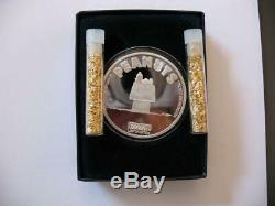 1-oz 999 Peanuts Argent Gang Charlie Brown Dog House Sleeping Snoopy Or Coin +