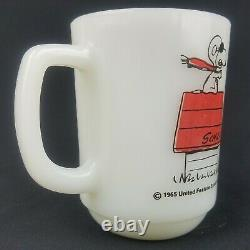 1965 Snoopy Fire King Curse You Red Baron Coffee Cup Schulz Charlie Brown
