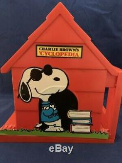 1980 Charlie Brown Encyclopédie Set 1-15 Snoopy Peanuts Withrare Livre Fin Titulaire