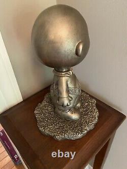 1999 Austin Sculpture Peanuts, Charlie Brown Bronze Jour Rêveur De La Monnaie Rare