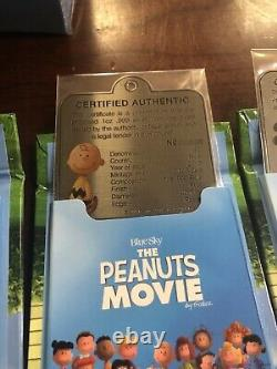 2015 Niue Le Peanuts Film 1 Oz Argent Coin Collection Charlie Brown Snoopy