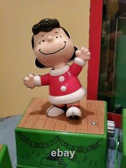 2017 Hallmark Dance Party De Noël Peanuts Snoopy Lumières Charlie Brown Set 8