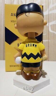 2017 Milwaukee Brewers Charlie Brown Sga Bobblehead Peanut Snoopy Billet Spécial