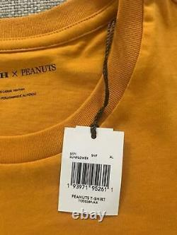 2021 Nouveau Coach Snoopy Peanut Charlie Brown T-shirt Orange Taille XL Limited