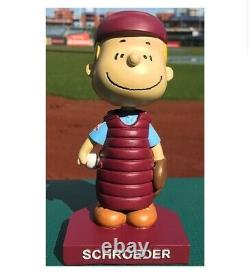2021 Peanuts Philadelphia Phillies Bobblehead Schroeder Sga Snoopy Charlie Brown