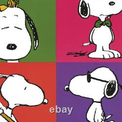 27wx40h Peanuts Gang By Charles Schulz - Snoopy Charlie Brown Linus Lucy Canvas