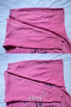 60s Mayo Spruce Vintage Sweat Peanuts Charlie Brown Snoopy Pink L Taille