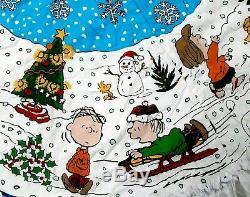 64 Arachides Gang Charlie Brown Snoopy Arbres De Noël Skirtwhite Garniture Lacet Arrière