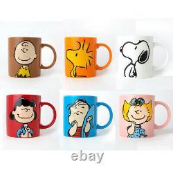 6pcs/set Peanuts Snoopy Charlie Brown Friends Ceramic Mug Cup 360ml Café Thé