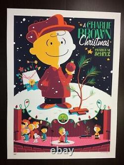 A Charlie Brown Christmas Whalen Signé Peanuts Snoopy LIM Edn Var Imprimer 210 $