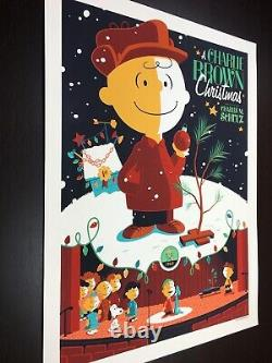 A Charlie Brown Christmas Whalen Signed Peanuts Snoopy LIM Edn Print! 200 $ (200 $ En Dollars)