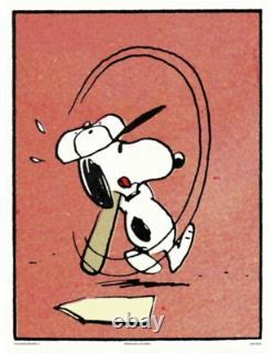 Affiche Mondo Peanuts Whiff Snoopy Charles Schultz Charlie Brown En Paye