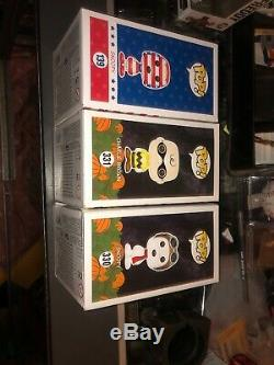 Arachides Funko Pop! Lot De 3 Snoopy Usa. Googles Charlie Brown 331 330 139