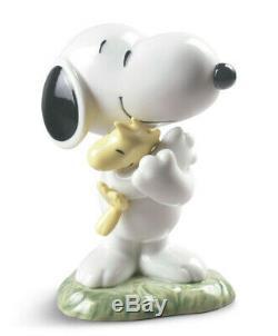 Arachides Nao Par Lladro Snoopy Avec Woodstock Marque Nib # 531 Charlie Brown Dog F / Sh