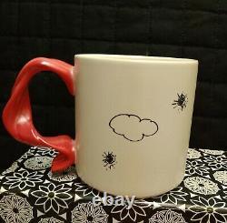 Arachides Snoopy Volant Ace 16 Oz. Mug Ceramic Red Scarf Handle Charlie Brown Nouveau