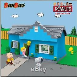 Banbao Snoopy Charlie Brown House Building Block Set 484 Pcs Collection Peanuts