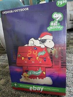 C'est Pas Vrai! 36 Pouces Snoopy Compte À Rebours À L'horloge De Noël Charlie Marron Cacahuètes Til