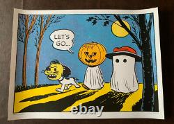 Charles Schulz Peanuts Let's Go Sold Out Affiche Charlie Brown & Snoopy Mondo