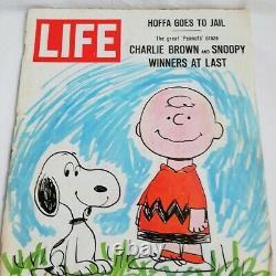 Charles Schulz Signé 1967 Vie magazine Jsa Loa Arachides Charlie Brown Snoopy
