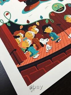 Charlie Brown Christmas Whalen Signé Peanuts Snoopy LIM Edn Print! 185 $