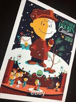 Charlie Brown Christmas Whalen Signé Peanuts Snoopy LIM Edn Print! 205 $