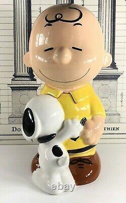 Charlie Brown Et Snoopy Cookie Jar Large Westland Peanuts #20716 Vintage