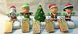 Charlie Brown Peanuts Gang Ensemble De 5 Hallmark Christmas Light Show Lucy Snoopy