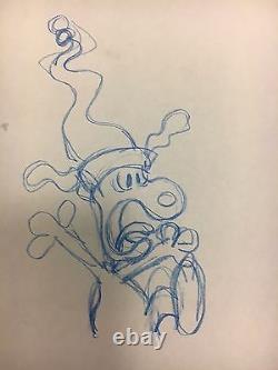 Course Pour Votre Vie Charlie Brown, Dessin D'animation Original Snoopy, 1977