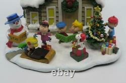 Danbury Menthe Peanuts Chalet De Noël Allégé Snoopy Charlie Brown Woodstock