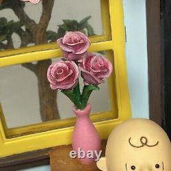 Danbury Mint Peanuts Mes Valentine! Lumière De La Saint Valentin Sculpture Lire
